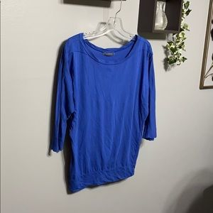 Anthro Velvet by Graham & Spencer Blue Top sz S